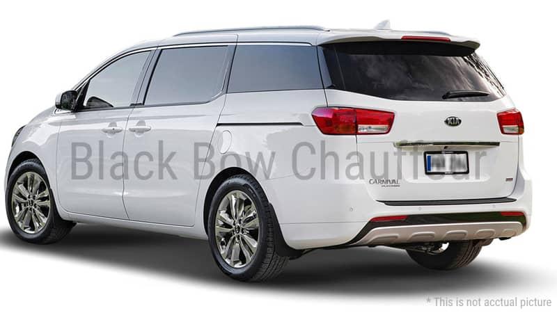 Hire Fleet Kia Carnival Kia Carnival 8 Seater Black Bow Chauffeur